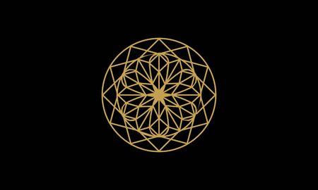 Mandala decorative element illustration. Geometric logo template Фото со стока - 140899238