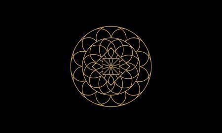 Mandala decorative element illustration. Geometric logo template Фото со стока - 140899245