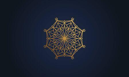 Mandala decorative element illustration. Geometric logo template Фото со стока - 140899252