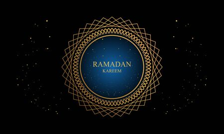 Ramadan kareem and mubarak greeting background islamic illustration