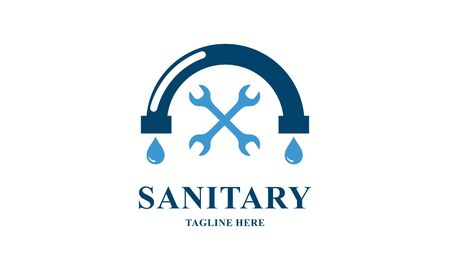 Sanitary ware logo design of icon vector illustrations Stock Illustratie