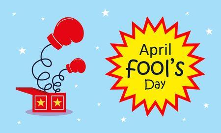 April fools day greeting vector Illustration