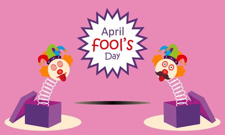 April fools day greeting vector