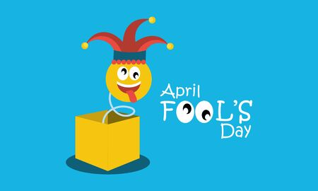 April fools day greeting vector Vettoriali