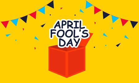 April fools day greeting vector Ilustração