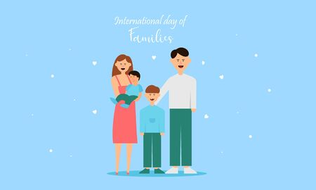 Happy International day of families, happy family illustration