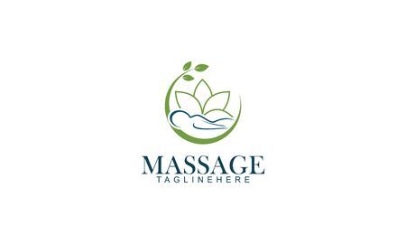 Body massage logo vector illustration