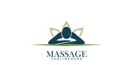Body massage logo vector illustration