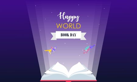 Happy world book day background 向量圖像