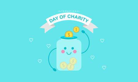 Donation in the international day of charity illustration