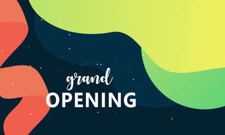 Grand opening background in flat style