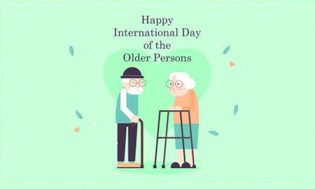 International day of older persons, Elderly background illustration