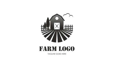 Agriculture and farming logo. Farm house vector illustration