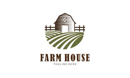 Agriculture and farming logo. Farm house vector illustration Logo