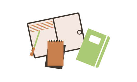 Notebooks notepads memo pads planners vector
