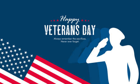 Flat design veterans day illustration concept vector