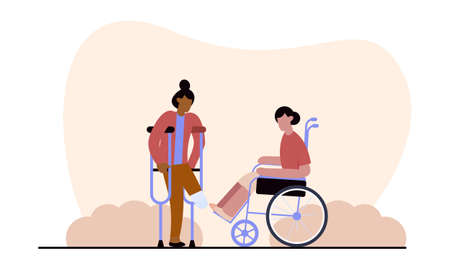 Flat design international day of people with disability illustration