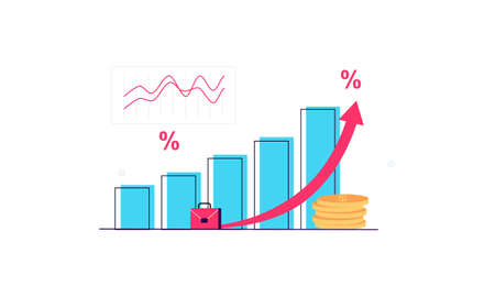 Finance advisory logo, chart logo design vector