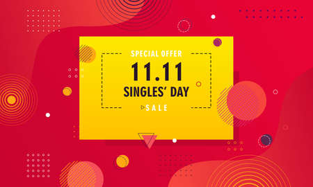 Abstract gradient singles day background concept template