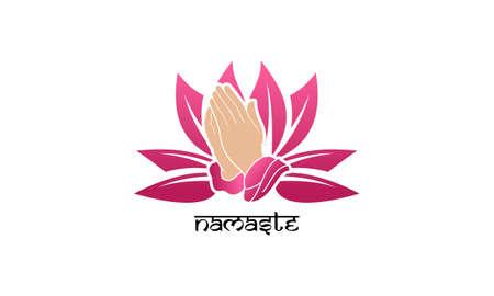 Namaste yoga logo template. Best logo design