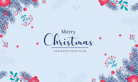 Realistic design christmas background. Merry christmas background