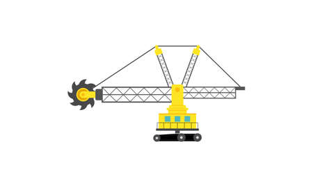 Construction equipment truck vehicle power tools heavy machine logo. Industrial machinery vector 向量圖像