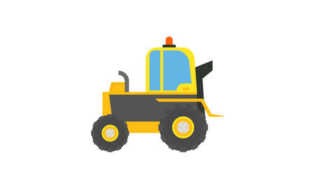 Construction equipment truck vehicle power tools heavy machine logo. Industrial machinery vector