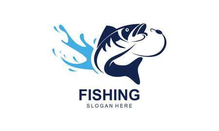 Vintage fishing logo template, uniqe fishing logo Logo