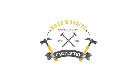 Vintage carpenter tools icon