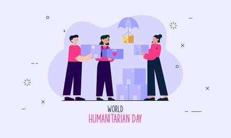 World humanitarian day illustration vector