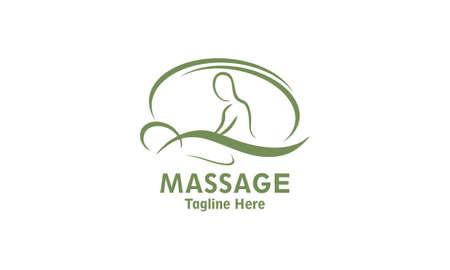 Body massage logo design vector