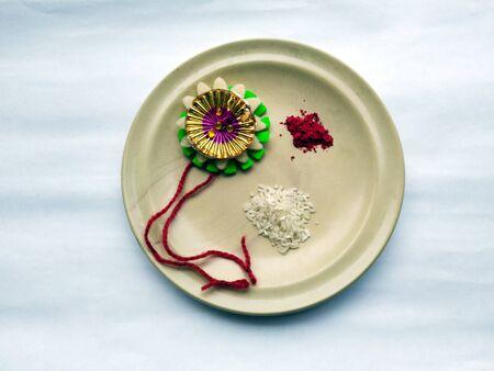 rakhi for raksha bhandhan festival of india isolated on white background Reklamní fotografie