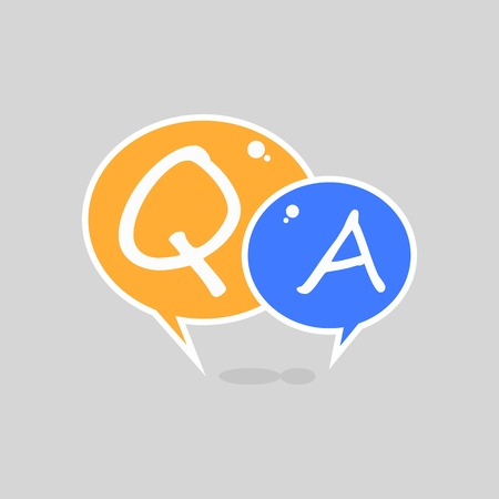 Question and Answer Flat Shiny Bubble Speech Illustration