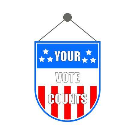 Your Vote Count Hanging Banner