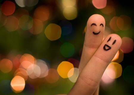 jokes: happy together Stock Photo