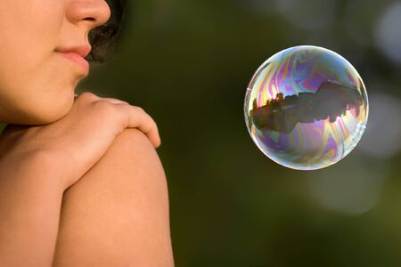 Girl with bubble Stock Photo - 7400443