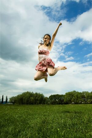 Jumping girl Stock Photo - 7497748