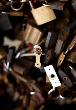 Collection of different old padlocks Stock Photo - 7857602