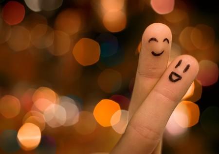 tail light: finger hug with nice bokeh Stock Photo
