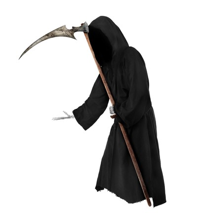 Isolated Grim Reaper. Halloween theme photo