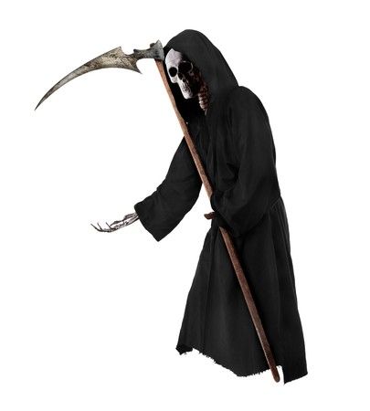 Isolated Grim Reaper. Halloween theme photo