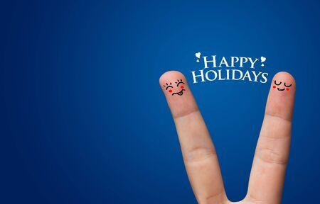 Happy finger hug on Holdiays theme Stock Photo - 8507181