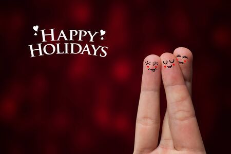 Painted finger smiley, happy holiday theme Stock Photo - 8507186