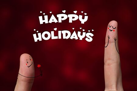 Painted finger smiley, happy holiday theme Stock Photo - 8507179