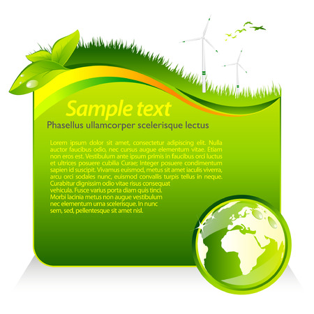 Green eco template Stock Vector - 8628968
