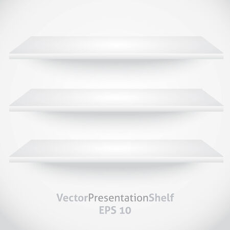 Isolated empty shelf for product presentation Stock Vector - 9114556