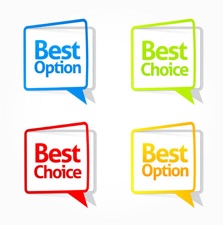 Colorful satisfaction guaranteed labels and buttons Vector