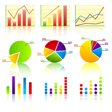 bullet icon: Business chart collection 1  Illustration
