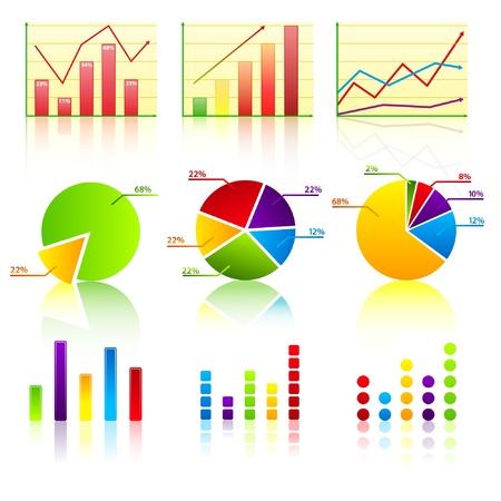 graficos de barras: Colecci�n de gr�fico de negocio 1  Vectores