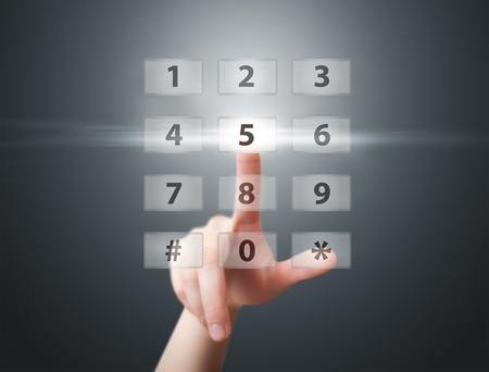 man hand pressing digital button Stock Photo - 9213706
